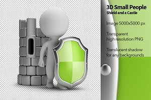 3D Small People - Shield