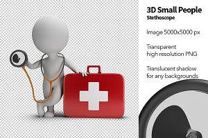 3D Small People - Stethoscope