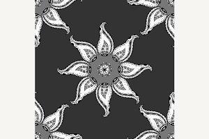 Oriental monochrome ornament