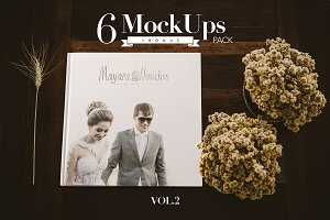 Photography album mockups vol.2