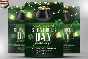 St. Patrick's Day Flyer Template 4