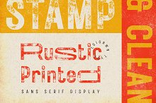 Rustic Printed - Vintage Font by  in Fonts