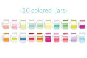 Colored jars