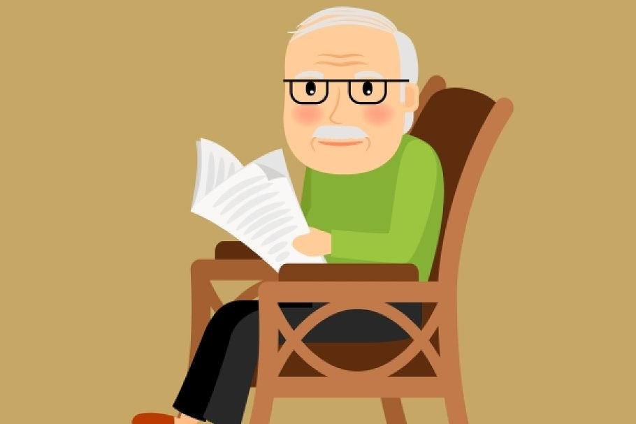 Remarkable Old Man Sitting In Rocking Chair Squirreltailoven Fun Painted Chair Ideas Images Squirreltailovenorg
