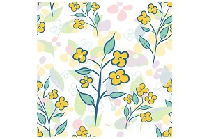 Seamless flower hand drawn pattern