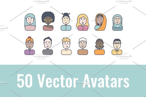 50 Male And Female Avatars
