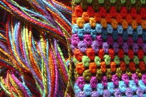 Crochet colorful material