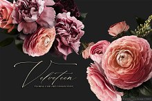 Velveteen Floral Clip Art Collection by  in Graphics