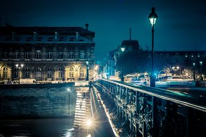 Pont Notre Dame with Street Light