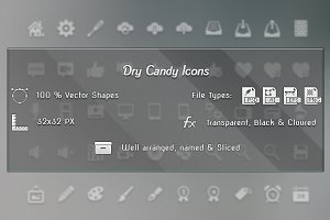 Dry Candy Icons - 180 Vector Icons