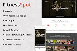 FitnessSpot - One Page HTML Template