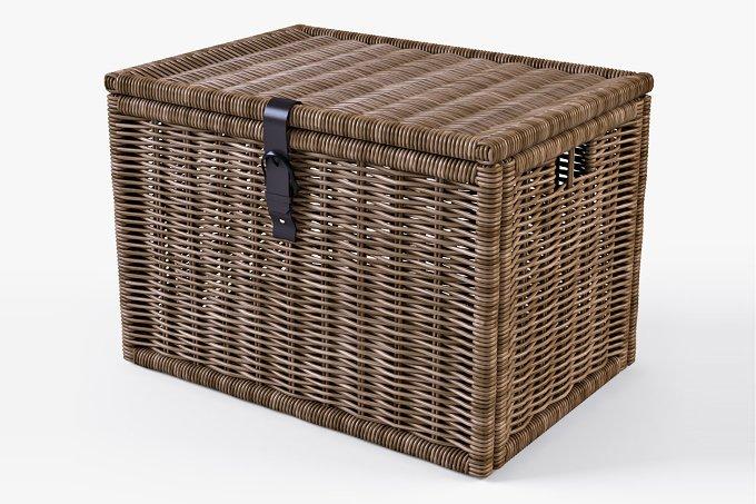 wicker rattan chest ikea byholma objects on creative market. Black Bedroom Furniture Sets. Home Design Ideas