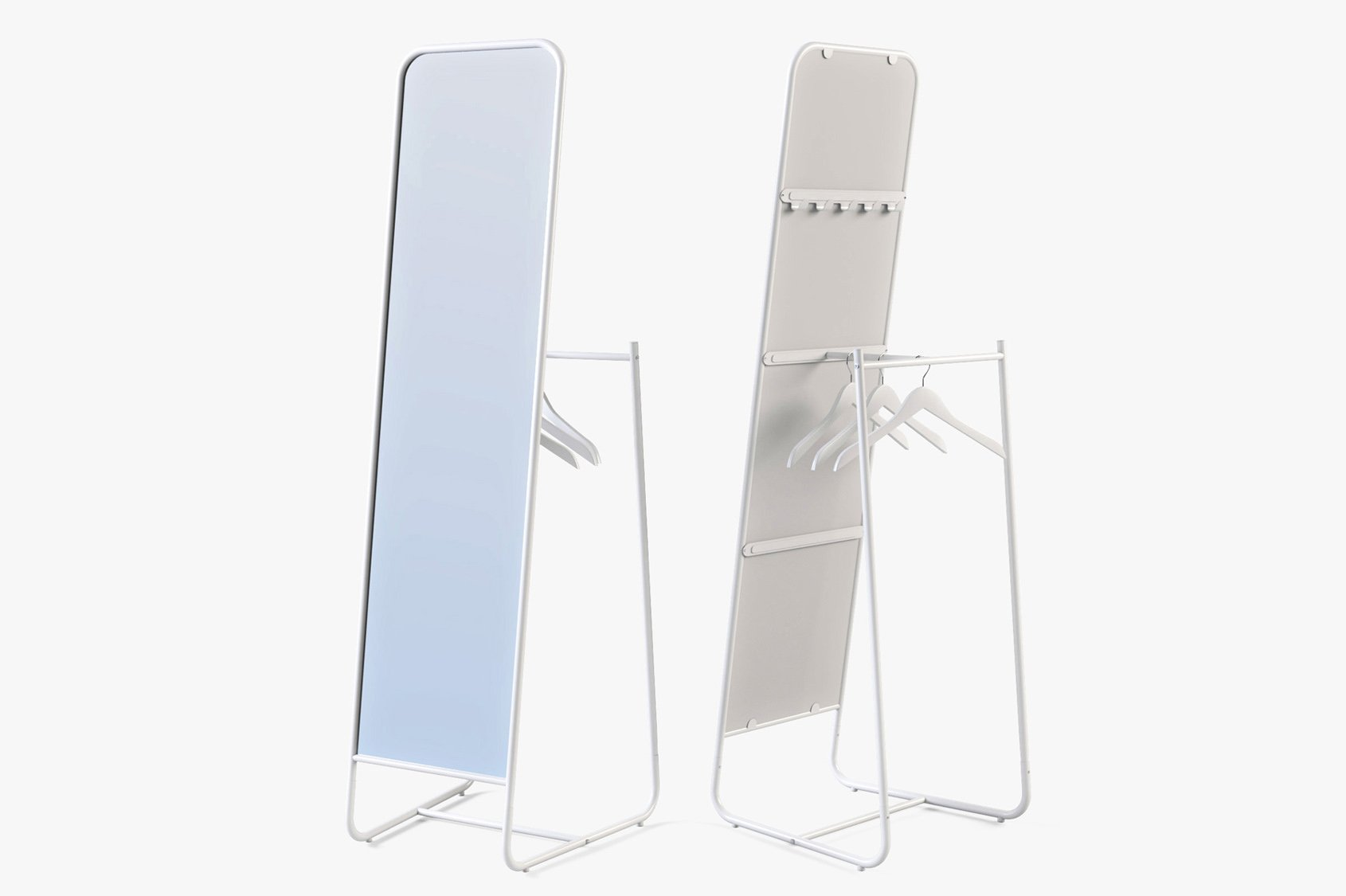 Floor Mirror Ikea Knapper High Quality Obj 3d Models Creative Market