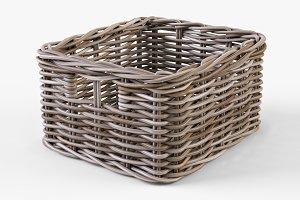 Wicker Basket Ikea Byholma 1 Gray
