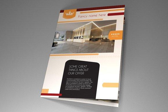 Hotel Brochure Indesign Vol2 Brochure Templates Creative Market