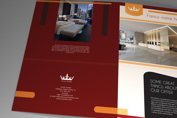 Hotel Brochure Indesign Vol Brochure Templates Creative Market - Hotel flyer templates free download