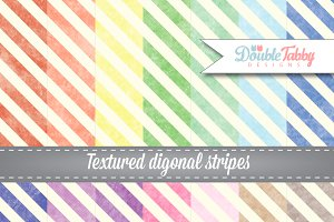 Textured Diagonal Stripes