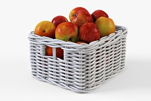 Apple Basket Ikea Byholma 1 White