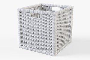 Rattan Basket Ikea Branas White
