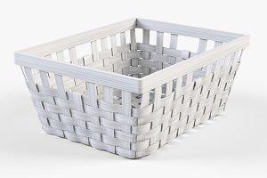 Wicker Basket Ikea Knarra 1 White