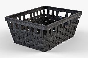Wicker Basket Ikea Knarra 1 Black