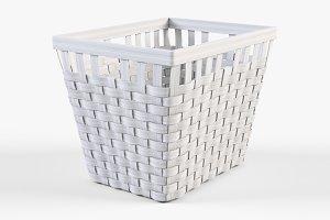 Wicker Basket Ikea Knarra 2 White
