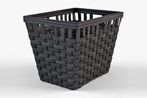 Wicker Basket Ikea Knarra 2 Black