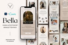 Bella PS+Canva Newsletter Templates by  in Email