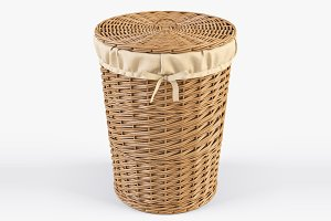 Wicker Laundry Basket 03 Natural