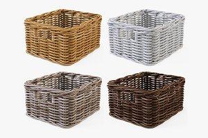 Wicker Basket Ikea Byholma 1 Set