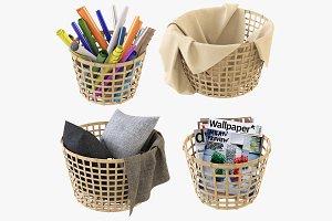 Wicker Basket Ikea Gaddis Set