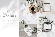 Silver Olive wedding mockups by  in Mockups