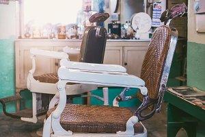 Vintage Barber's Chair - Barbershop