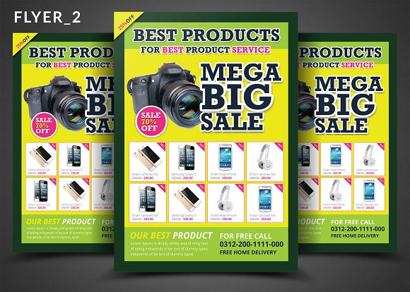 product promotion flyer bundle flyer templates creative market