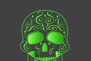 skull vector green