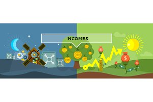 Incomes Concept Design Style Flat