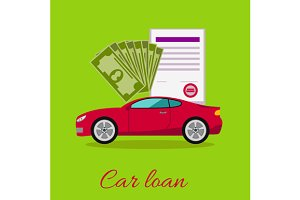 Car Loan Approved Concept