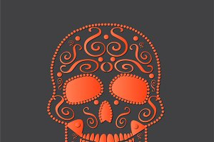 skull vector orange