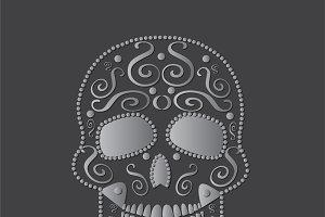 skull vector silver