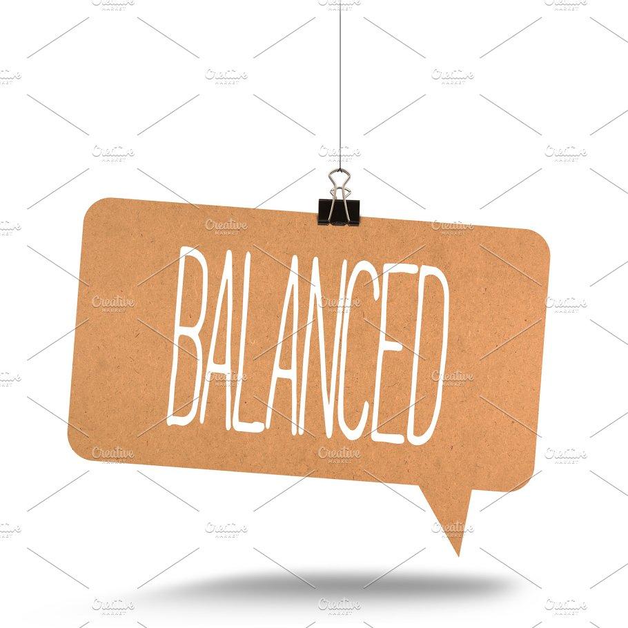 balanced word on cardboard business images creative market