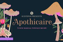 Apothicaire font by  in Fonts