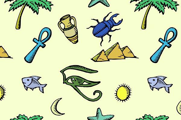 pattern of ancient egyptian symbols