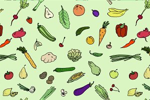 pattern Fruits and vegetables