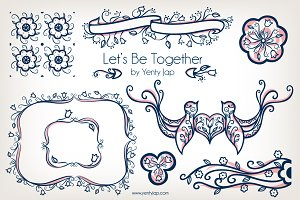 Let's Be Together Vector Wedding