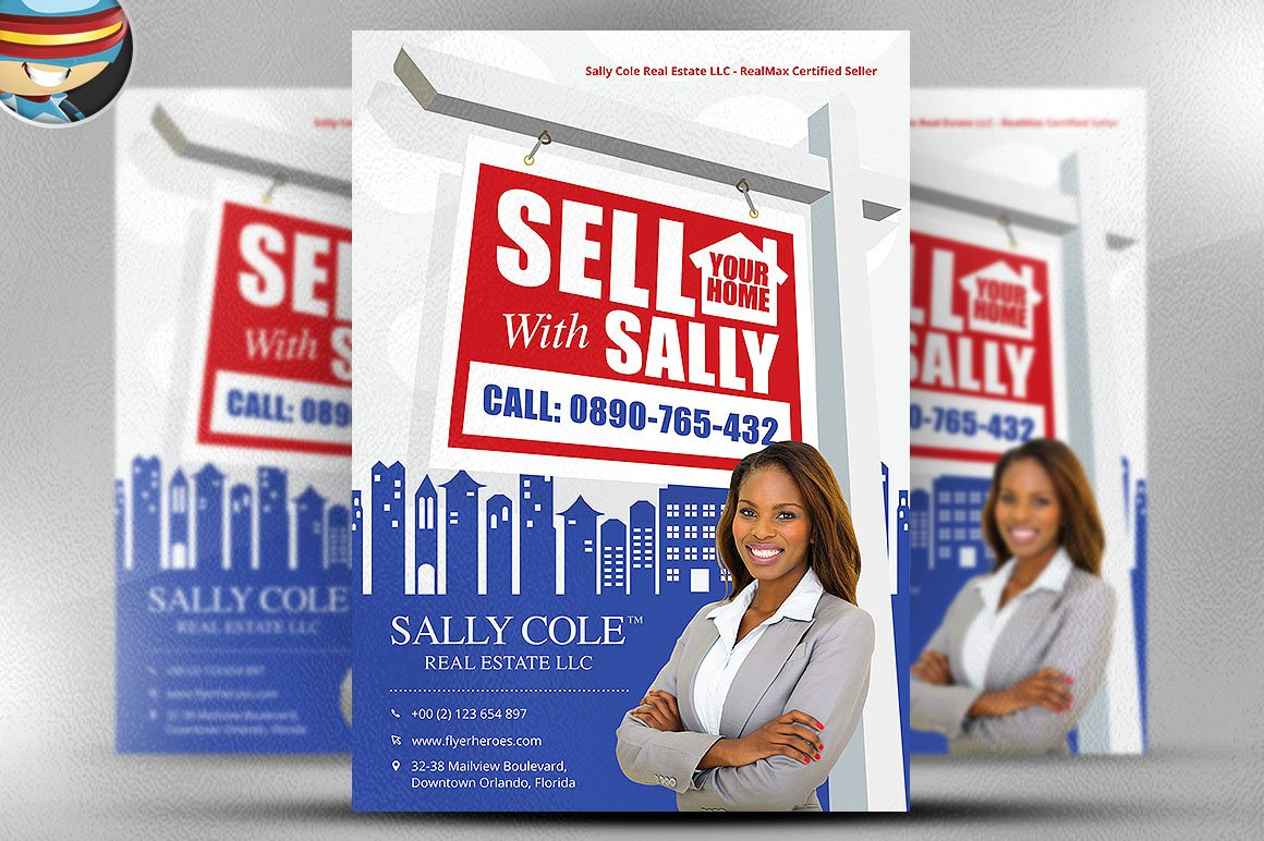 flyer heroes flyerheroes real estate flyer templates sell your home realtor flyer