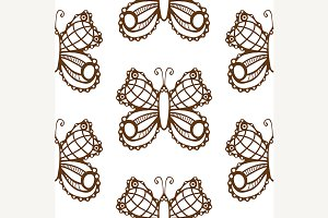 pattern with butterflies.