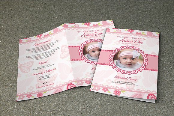 Child Funeral Program TemplateV403 Brochure Templates on – Child Funeral Program Template