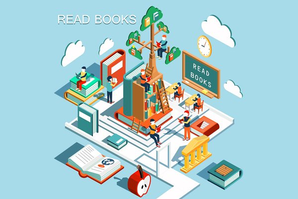 The concept of learning, read books…
