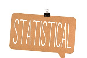 Statistical word on cardboard