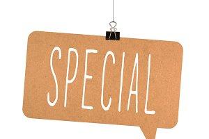 special word on cardboard